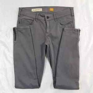 Pilcro Serif Moto Skinny Zipper Ankle Jeans Sz 26